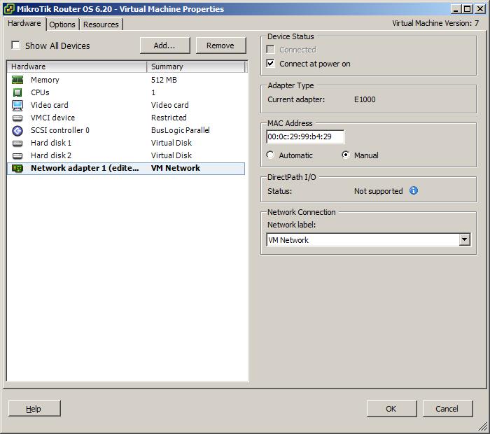 Mikrotik OS Router 6.20-3