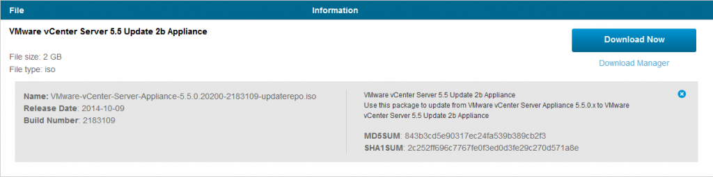 vcenter-appliance-updaterepo-55u2b